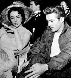 Elizabeth Taylor & James Dean. <3