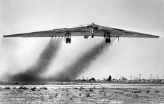 The first flight of the YB-49 was from Hawthorne to Muroc Army Air Base on Oct. 21, 1947.