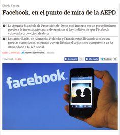 Facebook, en el punto de mira de la AEPD / @diarioturing | #readyfordigitalprivacy #gossiplibrarian15 #readyforsocialmedia