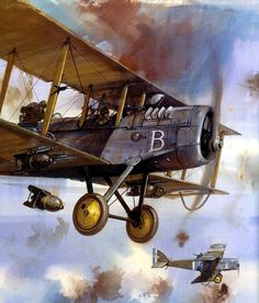 """pinturas-gran-guerra-aire: """" Airco DH4 - Michael Turner """""""