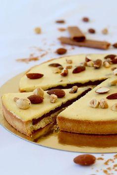 Tarte croustillante praliné & crémeux au caramel