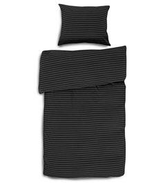 Marimekko Tasa-trikoopussilakanasetti, musta-t.harmaa | Pussilakanat ja tyynyliinat | Hobby Hall