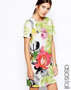 ASOS+Tall+Botanical+Flower+Dress