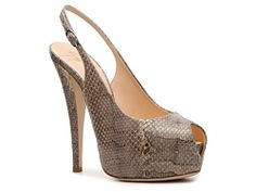 Giuseppe Zanotti Reptile Leather Slingback Pump OoooWeee...I like! I would find the most expensive one..Can't pay $600 for a shoe!