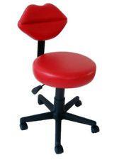 Lovely Lip+chair   GIRLY LIPS) STOOL CHAIR W / ADJ. BACK REST Stool
