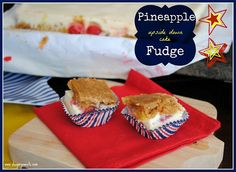Shugary Sweets: Pineapple {upside down cake} Fudge