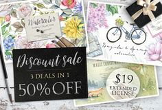 50%OFF - 3 deals in 1! by Eva-Katerina on @creativemarket