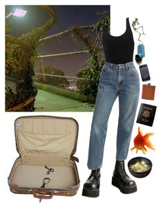 """foggy night in los angeles"" by cripplingstump ❤ liked on Polyvore featuring Demonia, Passport and Filson"