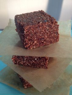 Raw chocolade brownies Recept op facebook te vinden!