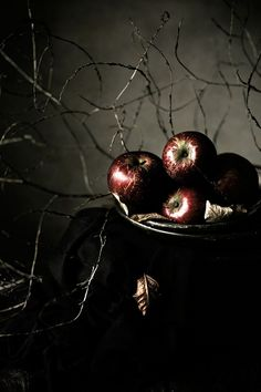 ~Autumn~ Stil Life: Apples - Pratos e Travessas by Mónica Pinto Dark Food Photography, Still Life Photography, Fine Art Photography, Poison Apples, Still Life Photos, Fruit Plate, Plate Art, Foto Art, Samhain