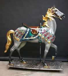 A Look In On The Restoration Of The 1927 Illions Supreme Brass Ring Carousel Company is Currently Restoring the 1927 Illions Supreme. The Supreme is Carosel Horse, Columbus Zoo, Horse Fly, Wooden Horse, Painted Pony, Merry Go Round, Horse Sculpture, Fantasy, Purple Gold