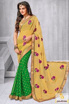 Latest yellow green color chiffon party wear saree online shopping at best discount price in India. Beautiful embroidery chiffon saree online shopping at lowest price. #partywearsaree, #partysaree, #designerpartysaree, #chiffonpartysaree, #designersaree, #embroiderypartysaree, #discountoffer, #pavitraafashion, #utsavfashion, #onlinesareeshopping, #printedpartysaree http://www.pavitraa.in/store/embroidery-saree/ callus:+91-7698234040