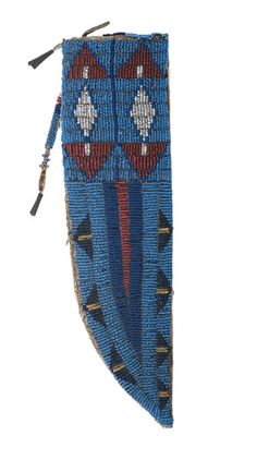 Sioux Beaded Hide Knife Sheath Attributed to <i>Old Man Afraid of His Horse</i> (Oglala, 1808-1889) (9/26/2014 American Indian: Live Salesroom Auction)