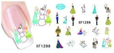 Nail Art Water Transfer Stickers Cartoon Butterfly Cat Decals Tips Decoration Cheap Stickers, Nail Art Stickers, Nail Decals, Frozen Nail Art, Frozen Nails, Cartoon Butterfly, Elsa Olaf, Frozen Elsa And Anna, Water Transfer