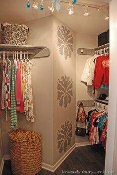 Awkward Closet Turned Dressing Room! « Uniquely Yours… or Mine!