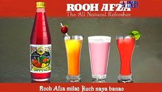 """This drink called """"Rooh Afza"""" was a red concentrate that you could add to water, milk or just drink plane. It was extremely sweet and popular at birthday parties."""