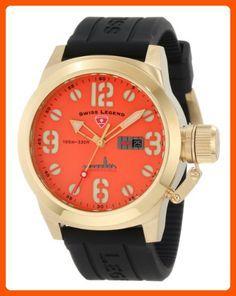 Swiss Legend Men's 10543-YG-06 Submersible Orange Dial Watch - Mens world (*Amazon Partner-Link)