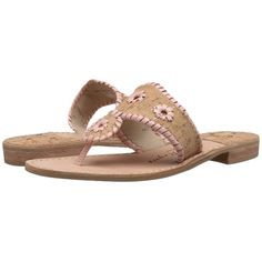 Jack Rogers Napa Valley Women's Sandals ($118) ❤ liked on Polyvore featuring shoes, sandals, summer shoes, flats sandals, flat shoes, summer flats and slip-on shoes