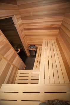People have been enjoying the benefits of saunas for centuries. Spending just a short while relaxing in a sauna can help you destress, invigorate your skin Sauna House, Sauna Room, Saunas, Outdoor Sauna For Sale, Building A Sauna, Hot Tub Room, Sauna Heater, Sauna Design, Outdoor Baths