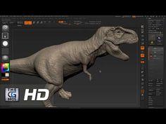 CGI 3D Tutorial Zbrush: Beginners Sculpting a T Rex - 3 de 4 - by Edge3D - YouTube