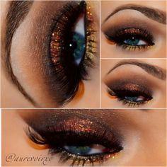 .@aurevoirxo   Spicy Cinnamon Makeup Look  using @eyekandycosmetics new fall limited edition...