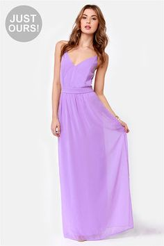 Check it out from Lulus.com! LuLu*s Exclusive! As pretty as an urban wildflower, the Rooftop Garden Backless Lavender Maxi Dress lights up the skyline with lengths of light purple chiffon. A fitted, triangle-cut bodice has spaghetti straps that crisscross a sexy open back, while a maxi-length skirt flows from the banded waistline like a flower bed in bloom! Invisible back zipper. Dress is lined and slightly sheer. Model is wearing a size small. Small measures 59