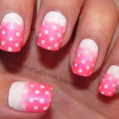 nails to try  i think they are crayon circles and then ombre AWESOME!