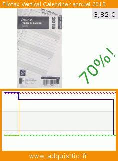 Filofax Vertical Calendrier annuel 2015 (Fournitures de bureau). Réduction de 70%! Prix actuel 3,82 €, l'ancien prix était de 12,94 €. https://www.adquisitio.fr/filofax/vertical-calendrier-0