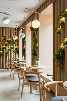 restaurant interieur BAO MOCHI Restaurant in Saint Petersburg, Russia by Marat Mazur Interior Design Home Design, Café Design, Modern House Design, Modern Interior Design, Design Ideas, Retail Interior Design, Design Inspiration, Modern Shop, Design Shop