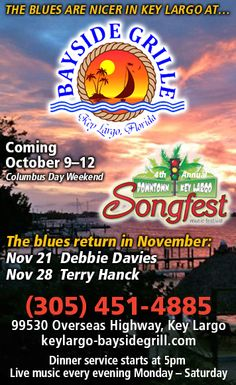 Downtown Key Largo Songfest - Enjoy a waterfront weekend of songs and songwriters in the Florida Keys