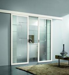 Porte scorrevoli in vetro - Porta in vetro con binario per ...
