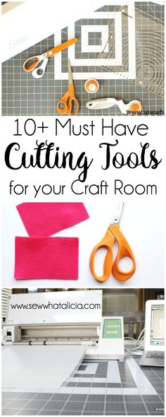 10+ Must Have Cutting Supplies for your Craft Room: Having the right cutting tools is super important for having a great finished product. Check out these amazing cutting tools that I use in my sewing room. Click through for the full list.   www.sewwhatalicia.com