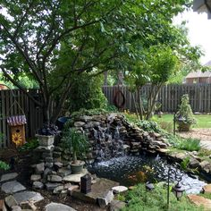 Loving my pond and waterfall this year! It's always a work in progress Home Garden Design, Garden Landscape Design, Diy Pond, Pond Water Features, Water Collection, Water Gardens, Backyard, Patio, Pool Landscaping