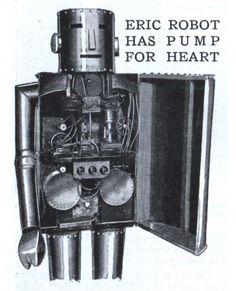 ERIC ROBOT HAS PUMP FOR HEART | Modern Mechanix)      Modern Mechanix Issue: May, 1929    Source: blog.modernmechanix.com