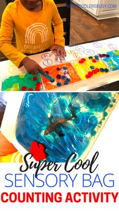 Sensory Activities Toddlers Will Love: Sensory Bag Counting