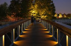 Lam Partners provides lighting design for architecture and for exterior environments. Park Lighting, Pathway Lighting, Linear Lighting, Lighting Concepts, Path Lights, Landscape Lighting, Outdoor Lighting, Lighting Ideas, Light Architecture
