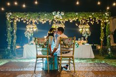 Gorgeous decor at Seminyak Bali // Yoska and Nariza capped off their week-long celebrations with a bang with a sunset ceremony and dinner reception held at Phalosa Villa, Seminyak, Bali, shot by Haniff Hazim of Wedlocx and planned by Bali Berdua. The couple hosted an intimate, travel-themed destination wedding for their closest friends and family, complete with an encore performance of the flash mob number they performed during their reception in Kuala Lumpur.
