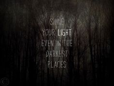 Yes. :: Shine Your Light Inspirational Print by BeneathNorthernSkies