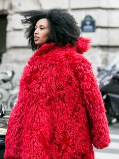 big red topper. JSJ in Paris. #JuliaSarrJamois