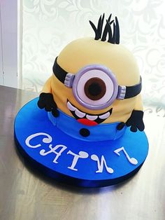 Minions cake By delidelicius