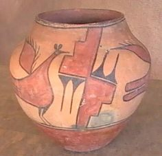Old Native American Zia Pueblo Pottery Jar Pot Native American Baskets, Native American Pottery, Native American Crafts, American Indian Art, American Indians, Old Pottery, Ceramic Pottery, Pottery Art, Ceramic Art