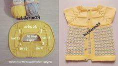 Yuvarlak Robalı Ajurlu Bebek Örgü Modeli Yapılışı | Kolay Hobiler Baby Knitting Patterns, Diy And Crafts, Baby Things, Dressmaking