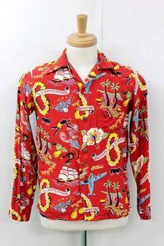 5966469f sun surf long sleeve repro #hawaiishirt #toyo #sunsurf #rayon #AlohaShirt # HawaiianShirt #vintage #50s