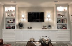 Looking for ideas to build your own entertainment center that suits your tastes and the space in your living room. Get inspired free DIY entertainment center ideas to get started. #DiyHomeDecor #TvStandIdeas #DiyProject