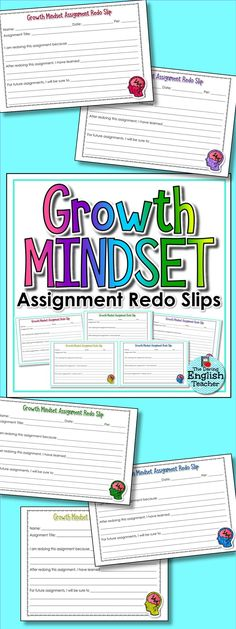 Growth mindset assignment redo slips are a great classroom resource that will encourage students to practice a growth mindset.