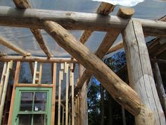 Round wood timber framing