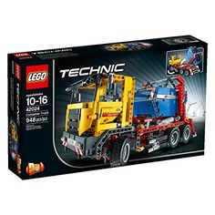 With a massive front grille wing mirrors supporting legs and powerful linear actuators the LEGO Technic Container Truck is a tough six wheeler for a tough job. This realistic 2-in-1 model can move ...