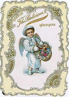 Antique Delicious Candy Chocolate Food Advertising Snowbaby Christmas Ephemera