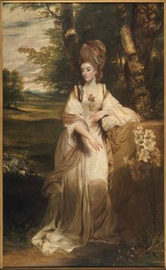 Artwork page for Lady Bampfylde, Sir Joshua Reynolds 1776–7 This portrait was probably commissioned to celebrate the marriage of Catherine Moore to Charles Warwick Bampfylde in 1776. Lady Bampfylde's pose is a witty adaptation of the famous classical statue, the Venus de' Medici (illustrated to the left) then regarded as the embodiment of female beauty. In the classical statue the goddess's hands are positioned over her breasts and genitalia, simultaneously emphasising her modesty...