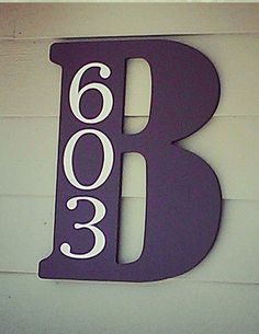 Initial address identifier. Your Initial with Your address numerics  on Etsy, $12.00
